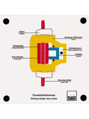 Floating-caliper disk brake
