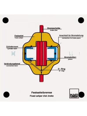 Fixed-caliper disk brake