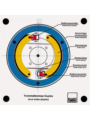Drum brake duplex (like simplex)