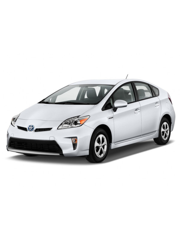 Hybrid Car (TOYOTA Prius 3), cut-away model with LED lamps