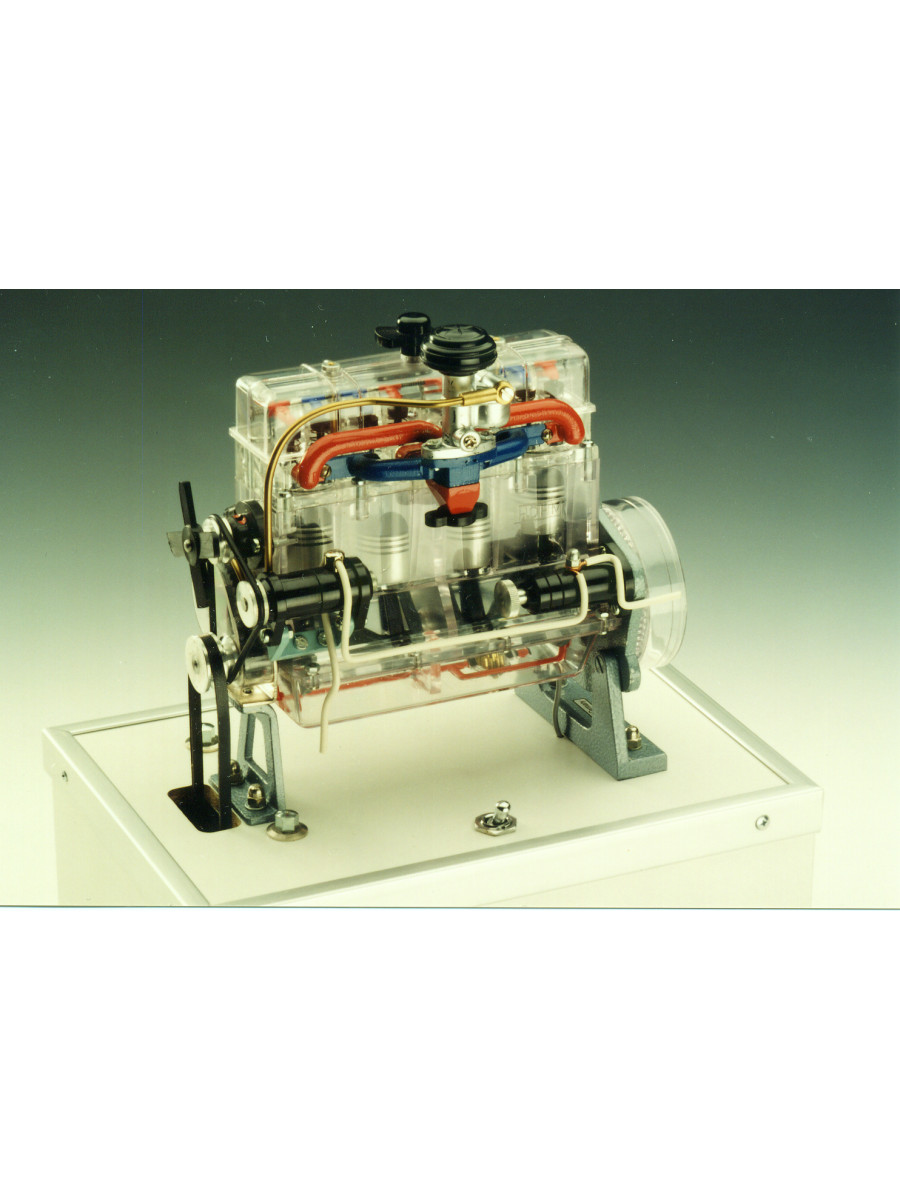 Glasmotor mit Motorantrieb