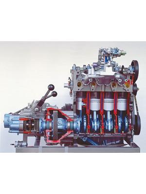 VW-Golf-Motor mit Getriebe